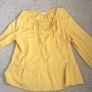 Marigold yellow blouse women's size medium